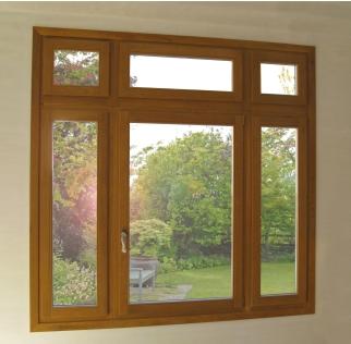 Ξύλινο παράθυρο, μονόφυλλο συνδιασμένο με σταθερά υαλοστάσια και φεγγίτες