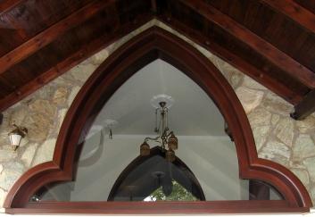 Ξύλινο σταθερό παράθυρο, ειδικό σχέδιο
